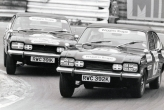 Ford V6 Capri, celebrity race, I won, from Pole, Graham Hill in pursuit