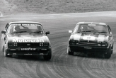 \'Group One, V6 Ford Capri\' up the inside 1977 Brands Hatch